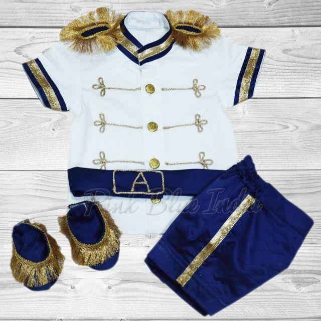 Half Sleeve Royal Prince Birthday Outfit, Baby Boy Prince 1st birthday Costume