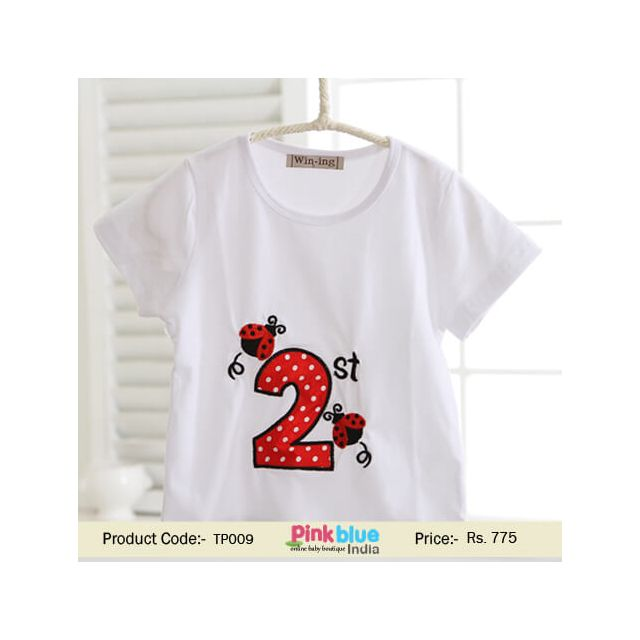 Beetle Design 2nd Birthday Kids Boy and Girl Outfit T-Shirts