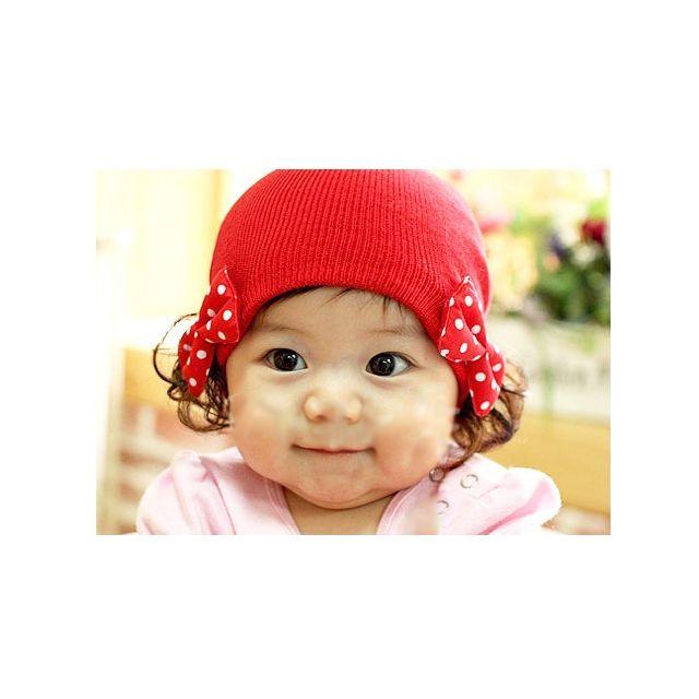 red baby winter cap