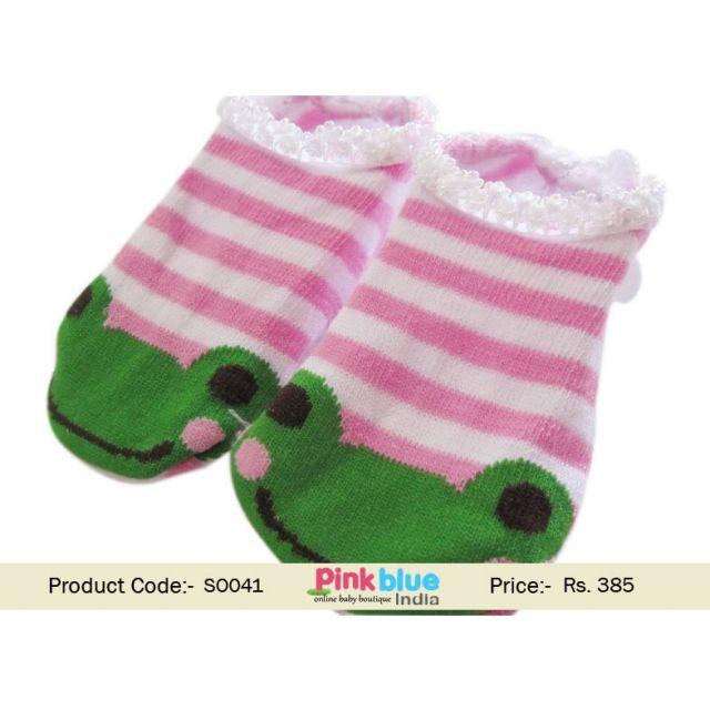 frog baby socks
