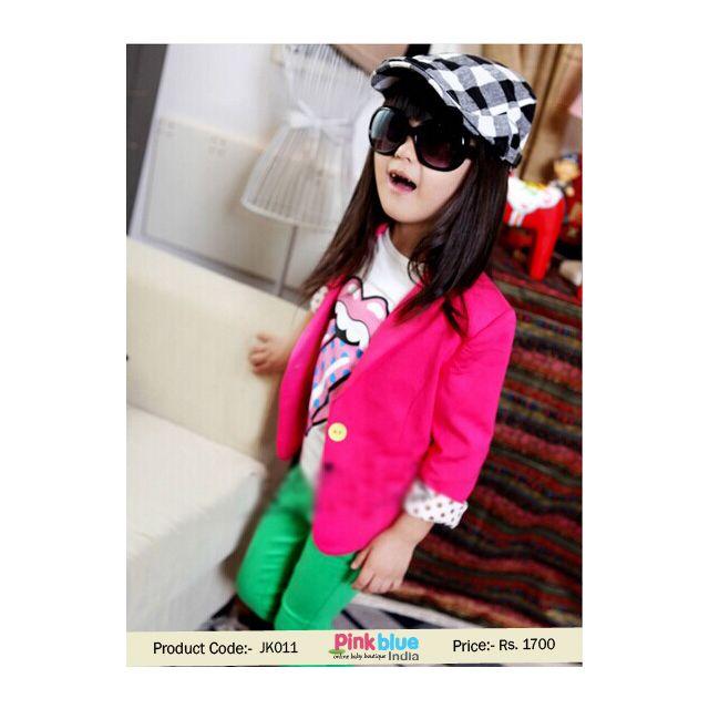 pink baby partywear coat