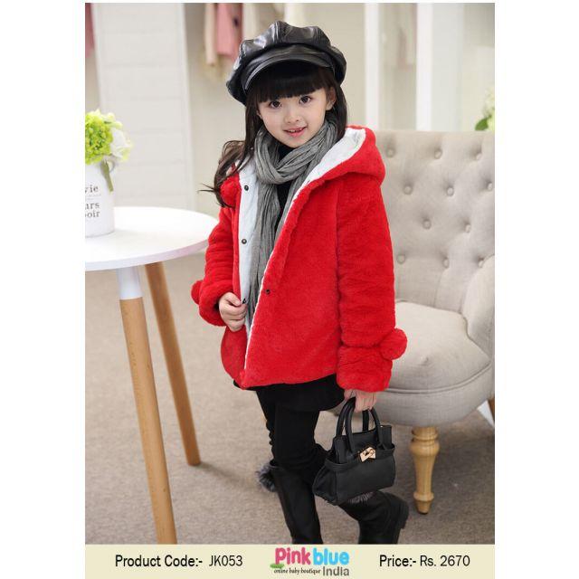 red baby winter coat