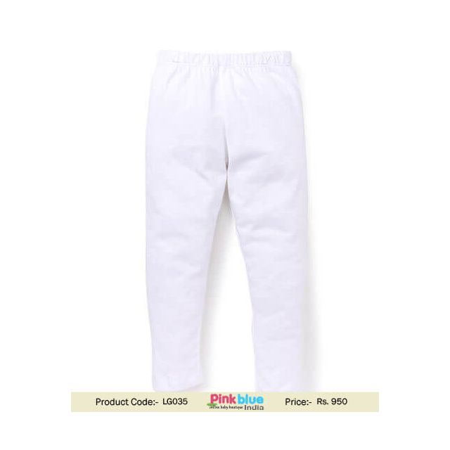 Toddler Girls Wool Pants and Leggings White Color