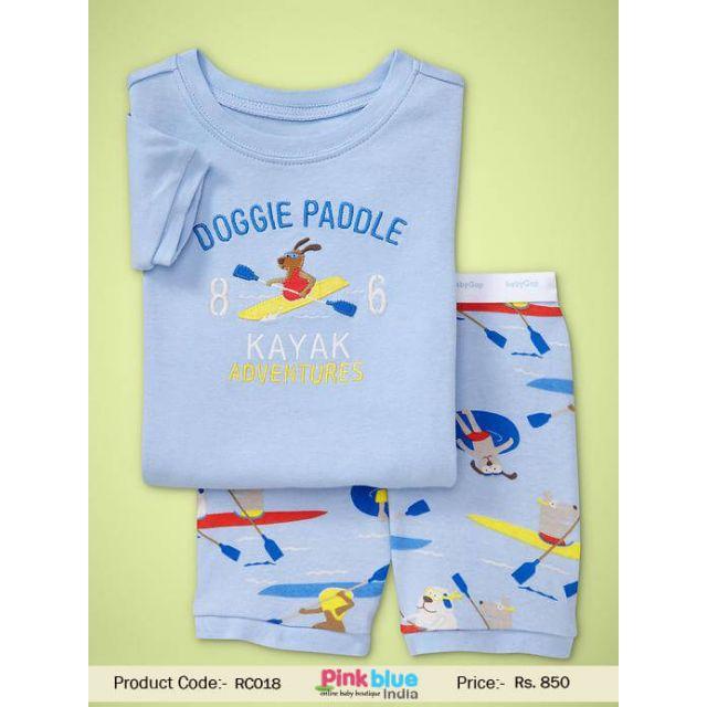 sky blue baby t-shirt shorts