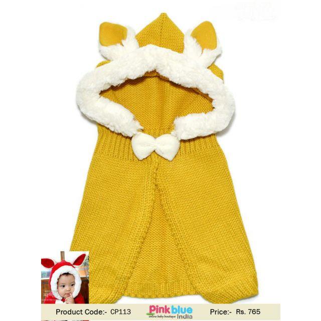 yellow toddler woolen cap