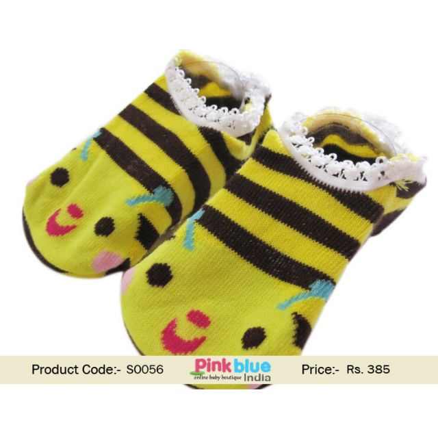 yellow newborn socks
