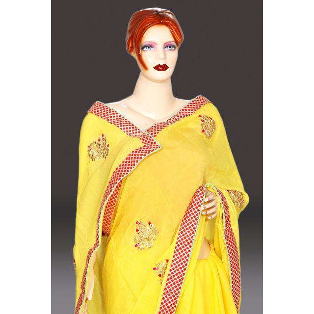 Buy designer gota patti saree online with fabulous Jaipuri gota patti work