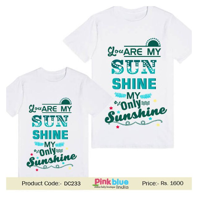 Personalized Family T-shirts Set Dad and Kids Son Online Shop India