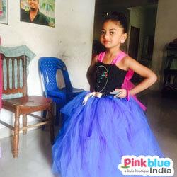 Blue Black Tutu Birthday Dress