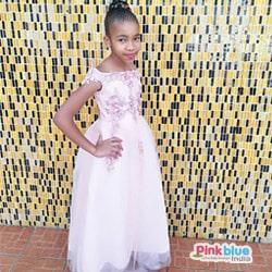 Baby Girl Blush Pink Birthday Party Dress