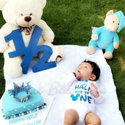 Baby Boy Half Birthday Onesie Birthday Bodysuit