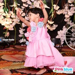Baby Pink Hi-Low Birthday Dress