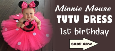 First Birthday Minnie Mouse Tutu Dress