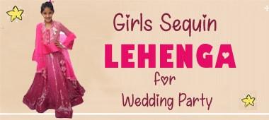 Baby Girls Sequin Lehenga Choli