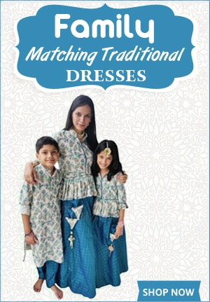 family matching traditional outfits, Mother Daughter Son Dresses