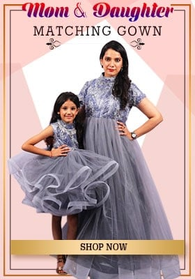 Shop for Customized Mother & Daughter Dresses Online at PinkBlueIndia.com