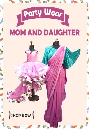 Party wear mom and daughter Dress