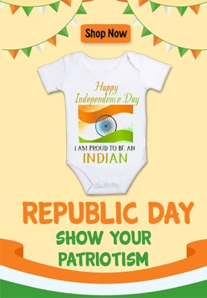 Republic Day Baby Onesie, Indian Tri Color Baby T-shirt