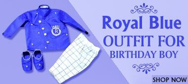 royal blue outfit for baby boy