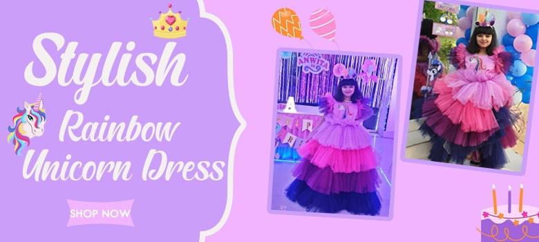 little Girl unicorn Birthday Dress
