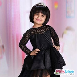 Black Birthday Party Dress for Baby Girl