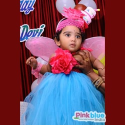blue color first birthday tutu dress