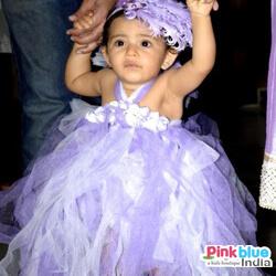 Baby Girl blue wedding party tutu dress