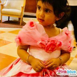Designer Pink Baby girl birthday party dress