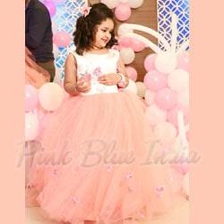 Kids Birthday Party Gown, Flower Girl Dress