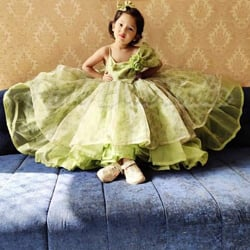Organza Party Wear Gown for Birthday Girl