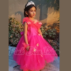 Hot pink baby Girl Dress