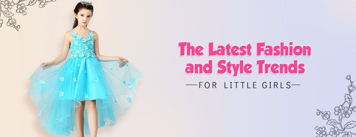latest fashion baby girl party dresses