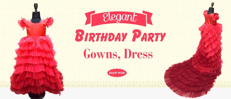 Kids birthday party gowns, Girls Birthday Dress