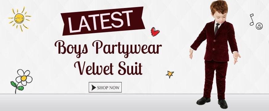 Baby Boy Party Wear Velvet Suit