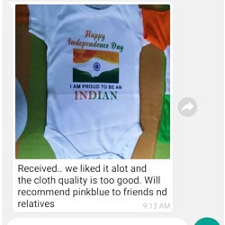 India independence day baby onesie