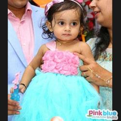 Kids Birthday Party Tutu Dress in Pink Flowers