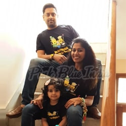 Matching family t shirts, mom dad and baby t-shirts India