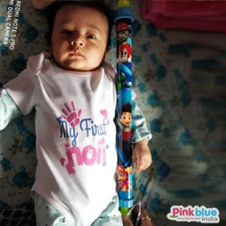 Newborn baby first holi romper