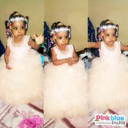 Peach Princess Party Dress
