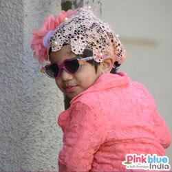 Peach Crochet Baby Headband
