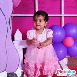 Baby Pink Net Little Princess Dress