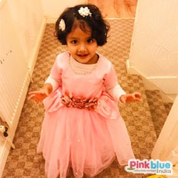 Pink Baby Girl Party Wear Dress
