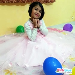 Pink Baby Girl Party Wear Frock
