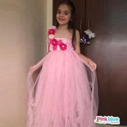 Pink Party Wear Flower Girl Tutu Dress