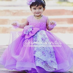 purple baby girl party dress