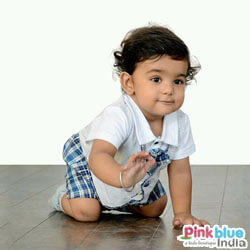 Infant Formal Romper in Checks
