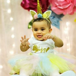 Rainbow First Birthday Party Unicorn Tutu Dress
