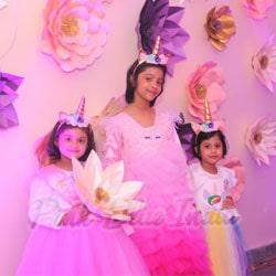 unicorn Birthday Party Gown, Unicorn Girl Dress