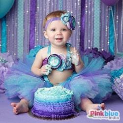 Unicorn Tutu Dress - cake smash birthday outfit