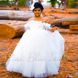 baby girl white party wear dress